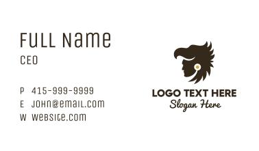 Eagle Head Aztec Hunter Business Card
