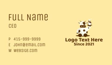 Cow Milk Waiter Business Card