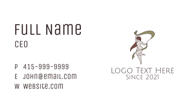 Woman Gymnastics Mascot Business Card
