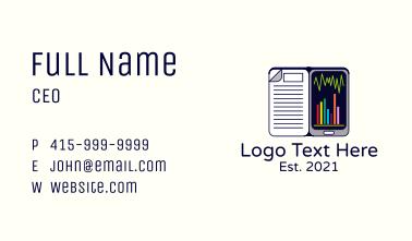 Mobile Statistics Class Business Card