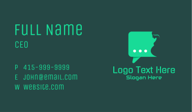 Green Obstetrician Teleconsultation Business Card