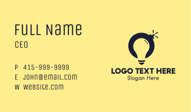 Light Bulb Bomb Business Card