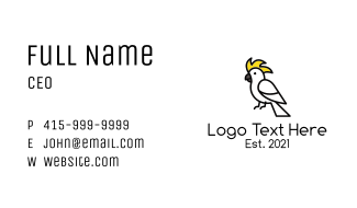 Perched Cockatoo Business Card