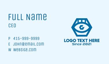 Blue Hexagon Eye  Business Card