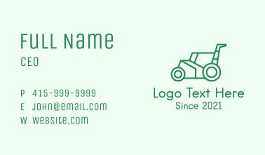 Green Lawn Mower  Business Card