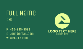 Green Abstract Home Business Card