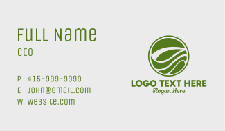 Circular Organic Growth Business Card