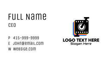 Photo Booth Printer Business Card