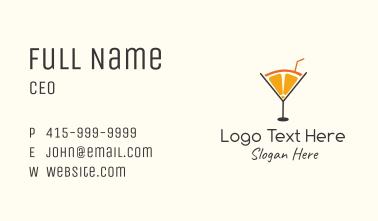 Orange Martini Juice  Business Card