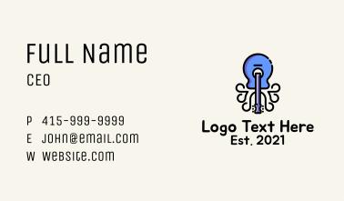 Blue Guitar Octopus Business Card