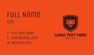 Tiger Shield Business Card