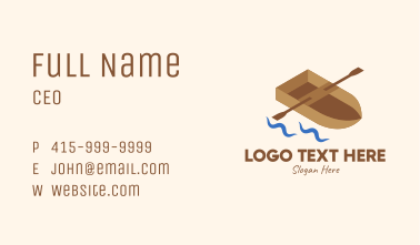 Isometric Row Boat Business Card