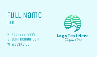 Natural Water Stream Business Card