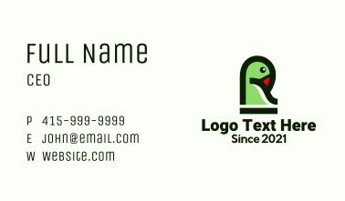 Letter R Bird Business Card