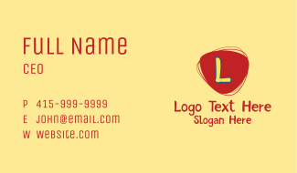 Playful Daycare Letter Business Card