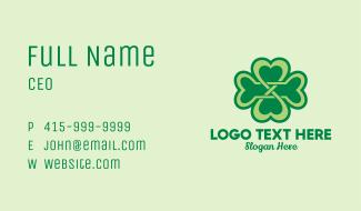 Fancy Clover Leaf Business Card