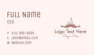 Brown Mustache Man Business Card