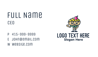 Gelato Boy Mascot Business Card
