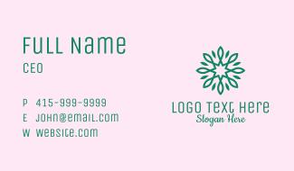 Green Star Flower Business Card