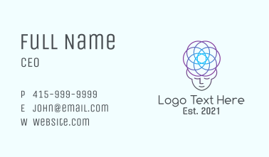 Monoline Neural Meditation Business Card