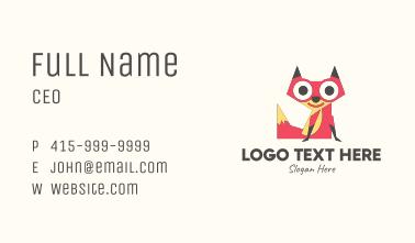 Cute Fox Mascot Business Card