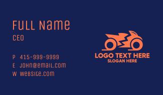 Orange Motorbike Motocycle Business Card