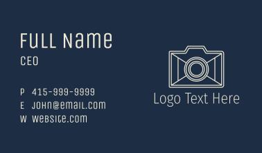 Minimalist Camera Gadget Business Card