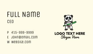 Kung Fu Panda Mascot Business Card