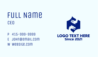 Blue Dragon Creature Business Card
