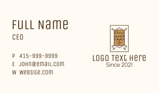 Wooden Ceramic Cabinet Business Card