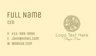 Vineyard Celtic Ornament Business Card