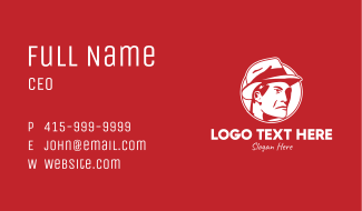 Red Man Hat Business Card