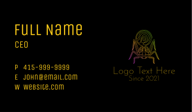 Psychedelic Mystic Spider Business Card