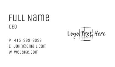 Led Pencil Wordmark Business Card