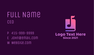 Music Note Audio Book Business Card