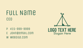 Camping Tent Business Card