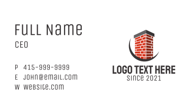 Brick Chimney Contractor  Business Card