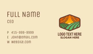Meadow Sunrise Badge Business Card