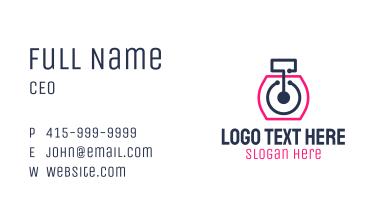 Photography Line Art App Business Card