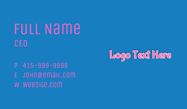 snacks - Bubblegum Wordmark Business card horizontal design
