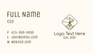 Coffee Farm Seedling Business Card