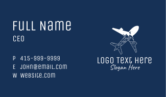 Outdoor Traveler Plane Business Card