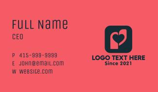 Heart Tag App Business Card