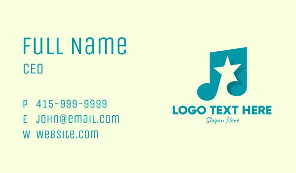 rhythm - Pop Music Star Business card horizontal design