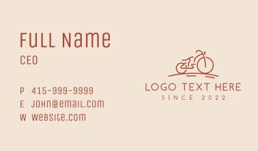 Bike Racing Bicycle Business Card