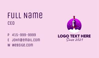 Wine Bottle Rocket  Business Card