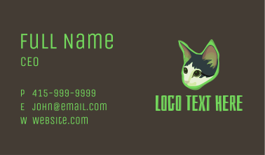 Glowing Cat Business Card