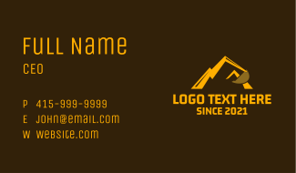 Mountain Excavator Arm Business Card