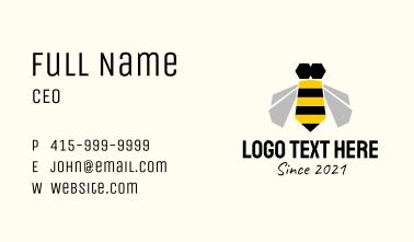 Geometric Honeybee  Business Card
