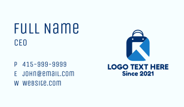 Sales Shopping Bag Business Card